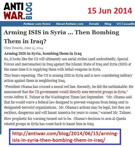 http://antiwar.com/blog/2014/06/15/arming-isis-in-syria-then-bombing-them-in-iraq/